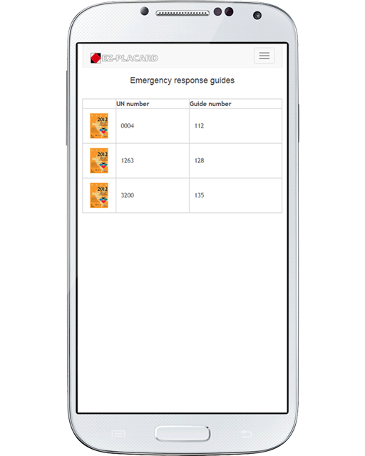 In an emergency, every second counts. By accessing the Emergency Response Guide section of the app, the system shows you all the individual guides based on what's inside your virtual truck